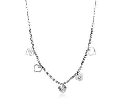 Ocelový náhrdelník s přívěsky Chant BAH28