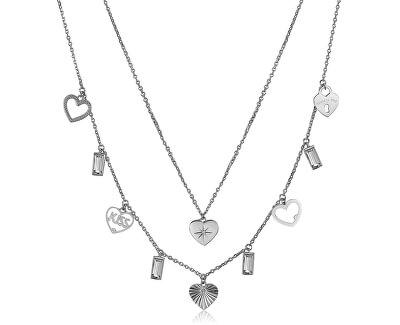 Ocelový náhrdelník s přívěsky Chant BAH29