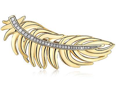Broșă placată cu aur - PanăPlume BUM42