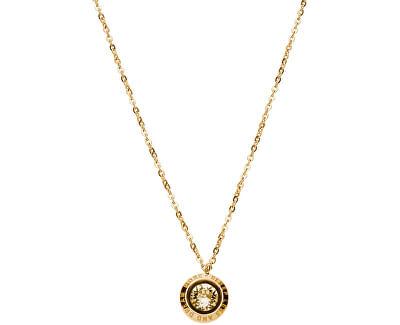 Pozlacený ocelový náhrdelník s krystalem Magic BGI05