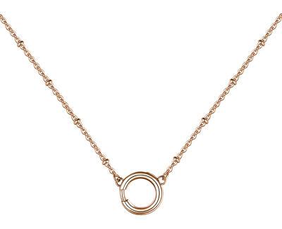 Růžově zlacený ocelový náhrdelník Catena BCT43