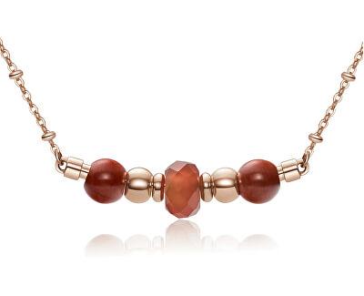 Růžově zlacený ocelový náhrdelník Trés Jolie BTJMS658