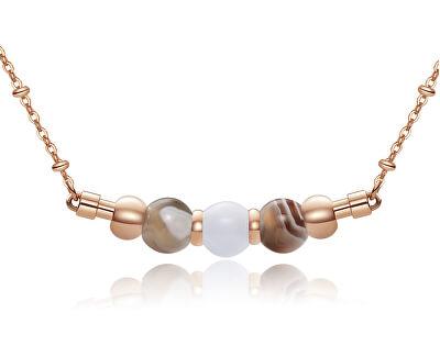 Růžově zlacený ocelový náhrdelník Trés Jolie BTJMS661