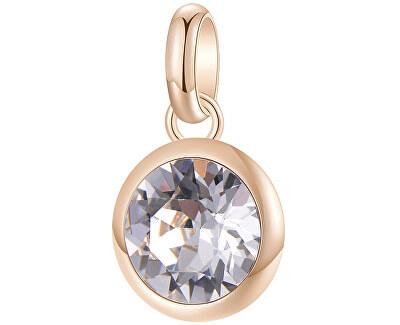 Růžově zlacený ocelový přívěsek s krystalem Très Jolie BTJM252