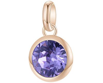 Růžově zlacený ocelový přívěsek s krystalem Très Jolie BTJM253