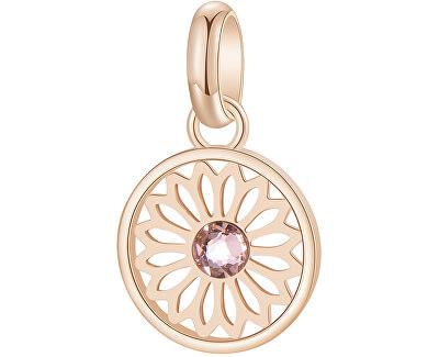 Růžově zlacený ocelový přívěsek s krystalem Très Jolie BTJM268