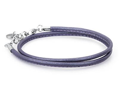 Brosway Tmavo fialový kožený náramok Bracciali BBR30