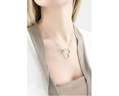 Oceľový bicolor náhrdelník so srdiečkami Minuetto BMU02