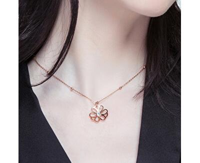 Ocelový náhrdelník Ikebana BKE04