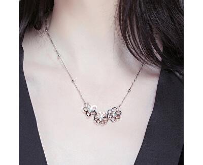 Ocelový náhrdelník Ikebana BKE05