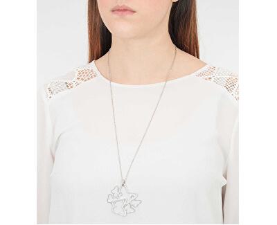 Oceľový náhrdelník s motýľmi Flow BOW02