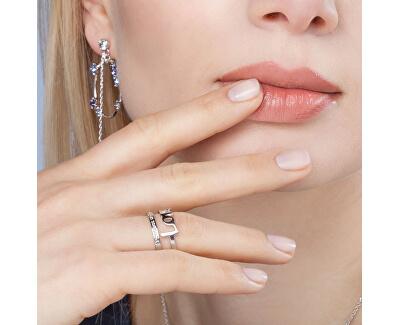 Oceľový prsteň Love Script BRP31