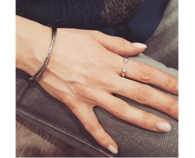 Otevřený pozlacený prsten s krystaly Brilliant KJ8YJR140100
