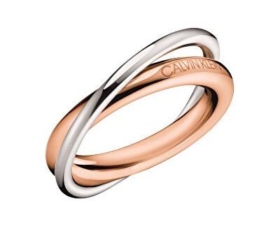 Calvin Klein Bicolor ocelový prsten Double KJ8XPR2001