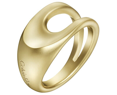 Calvin Klein Luxusní pozlacený prsten Shape KJ3YJR1101