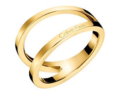 Luxusné pozlátený prsteň Outline KJ6VJR1001