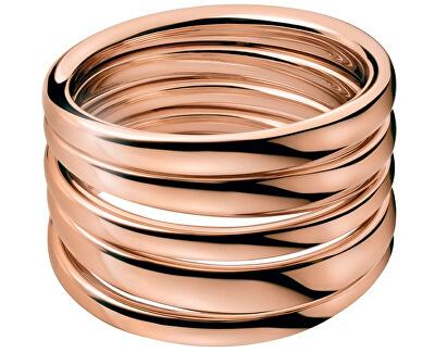Masívní růžově pozlacený prsten Sumptuous KJ2GPR1001