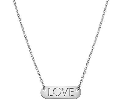 Calvin Klein Oceľový náhrdelník Message Love KJ7CMN000200