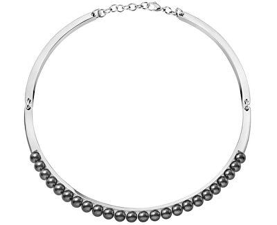 Ocelový náhrdelník s perličkami Circling KJAKMJ040100