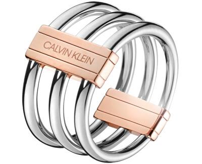 Ocelový prsten Insync KJBDPR2001