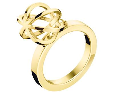 Calvin Klein Originální pozlacený prsten Show KJ4XJR1002