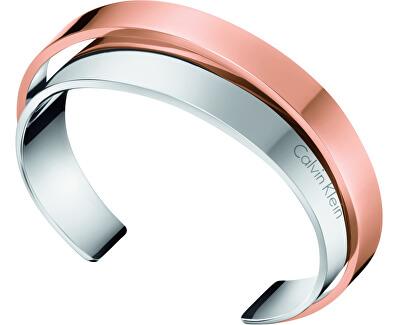 Calvin Klein Otevřený ocelový bicolor náramek Unite KJ5ZPF2001