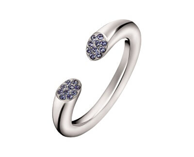 Calvin Klein Otevřený ocelový prsten s krystaly Brilliant KJ8YMR0402