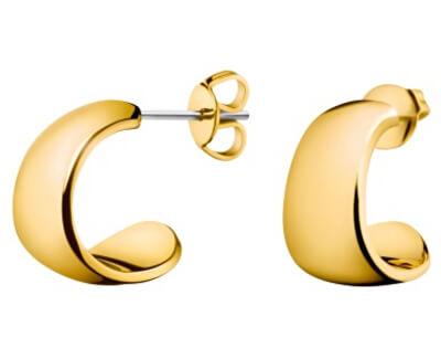 Calvin Klein Pozlátené oceľové náušnice Informal KJ6GJE100100