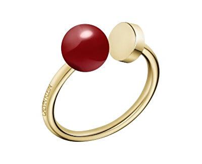 Pozlacený ocelový prsten Bubbly KJ9RJR1402