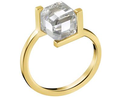 Pozlacený prsten s krychličkou KJ3HJR1401
