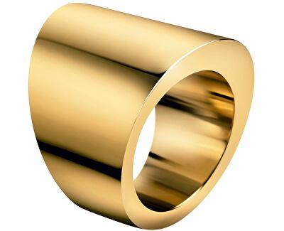 Inel din oțel placat cu aur Stylish KJ74BR0201