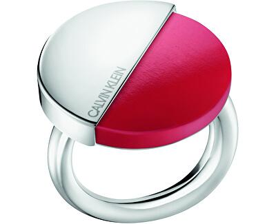 Stylový prsten s červeným kamenem Spicy KJ8RRR0401