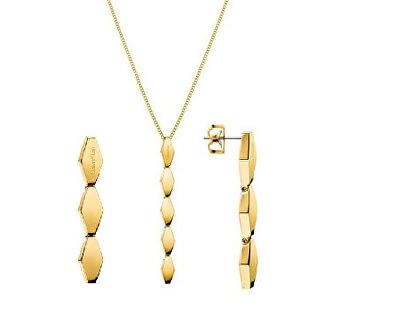Set de bijuterii din oțel placat cu aurSnake