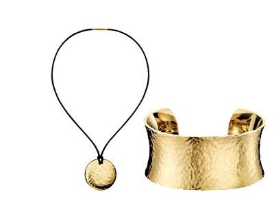Set de bijuterii din oțel placat cu aur