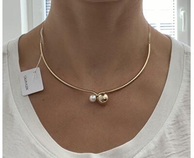 Luxusní pozlacený náhrdelník Bubbly KJ9RJJ140100
