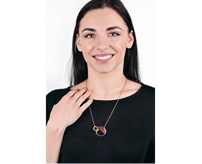 Luxusní růžově pozlacený náhrdelník Locked KJ8GPN100100