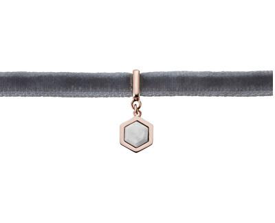 Sametový choker s hexagonem CLJ23002