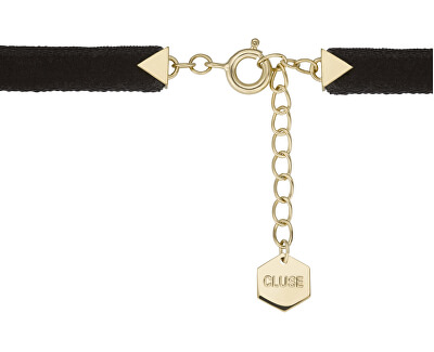 Sametový náramek s hexagonem CLJ13002