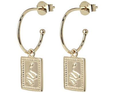 Náušnice Hoop Tag Pendant Gold CLJ51019