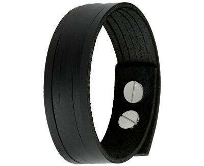 Černý kožený náramek London CS03-5001