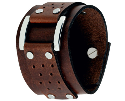Hnedý kožený náramok Vegas CS03-5020