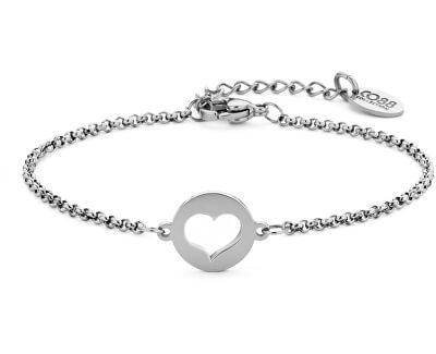 Acél karkötő szívvel 860-180-090401-0000