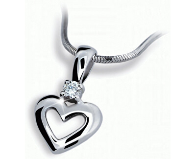 Přívěsek srdce s diamantem DF1603b