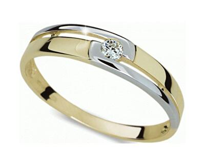 Danfil Krásný bicolor prsten s diamantem DF1793z