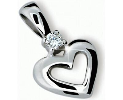 Danfil Přívěsek srdce s diamantem DF1603b