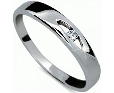 Zlatý prsten s diamantem DF1281b