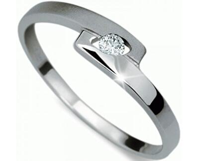 Jemný prsten s diamantem DF1284b