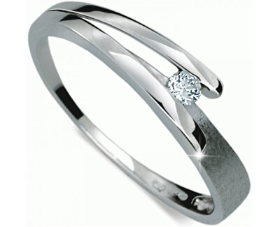 Danfil Něžný prsten s diamantem DF1716b