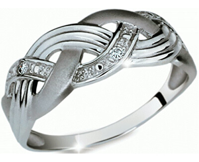 Danfil Krásny prsteň s diamantmi DF1848b