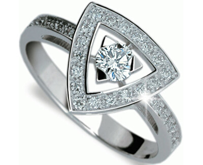 Danfil Luxusní zlatý prsten s diamanty DF1970b